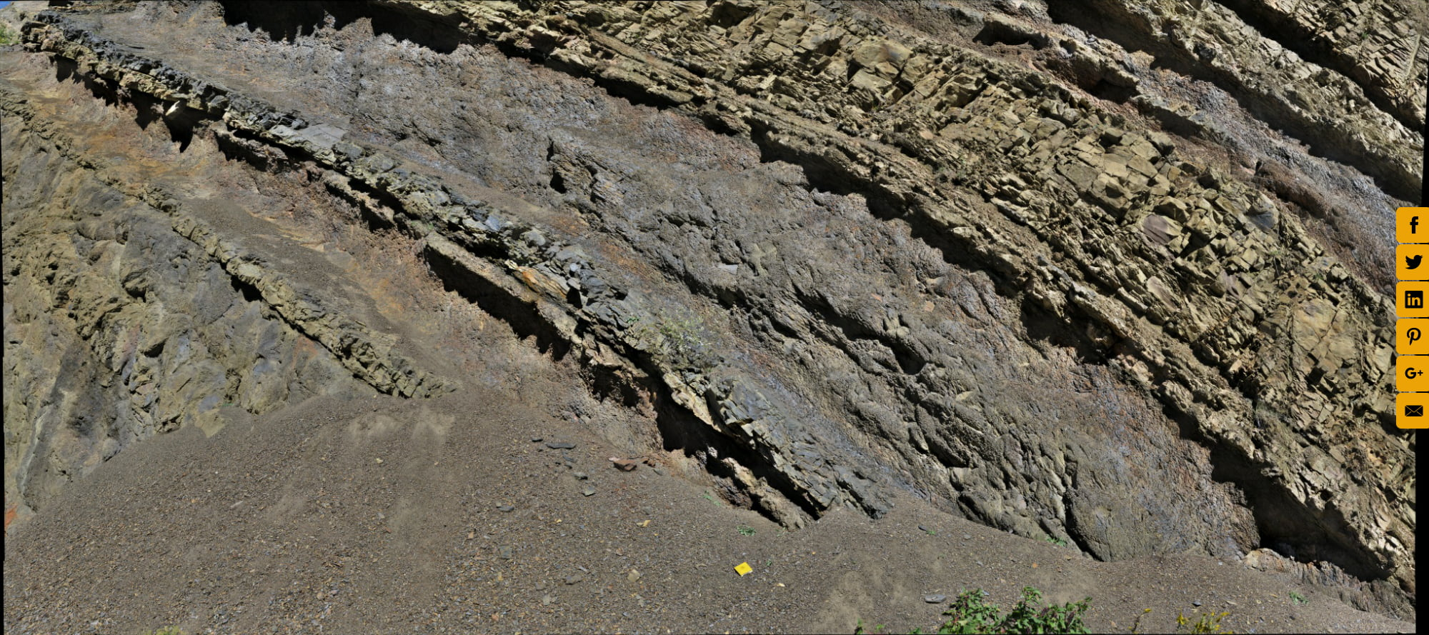 Differential Weathering, Sideling Hill, Maryland